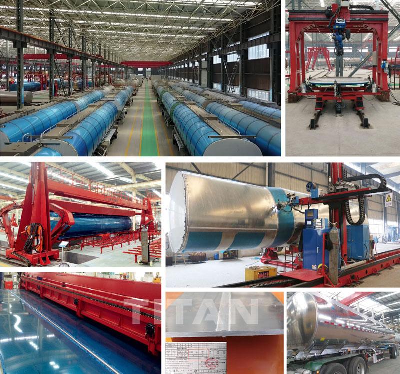 Línea de producción de tanques
