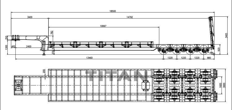 ¿Qué es un remolque de plataforma baja? cuánto tiempo 丨 qué tan bajo 丨 la altura