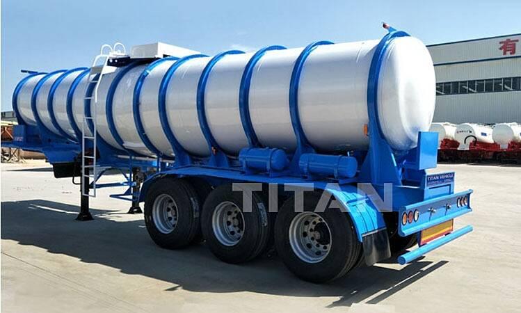 Tanker Asam Hidroklorat Sulfur | Trailer Tangki Cairan Kimia Untuk Dijual