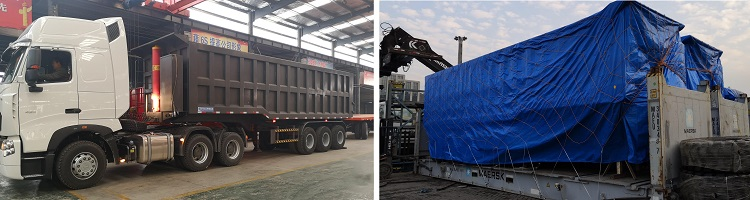 paket trailer semi tipper