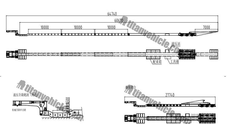 Trailer Adaptor Transportasi Turbin Angin Blade | Windmill Blade Extendable Trailer Untuk Dijual