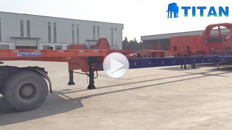 Pengujian trailer teleskopik 56 meter