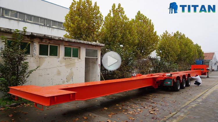 64m trailer balok tunggal diperpanjang