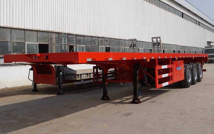 3 gandar 40ft kontainer logistik flatbed trailer