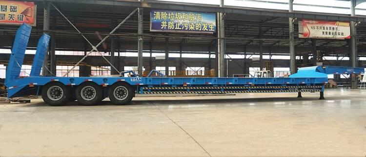 3 gandar excavator trailer untuk dijual