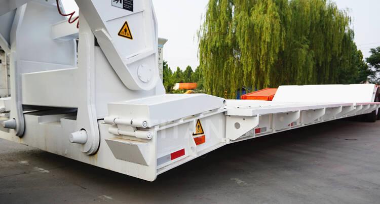 80 ton trailer flatbed lowboy untuk dijual