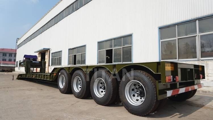 Muchas opciones para neumáticos de remolque lowboy de 100 toneladas