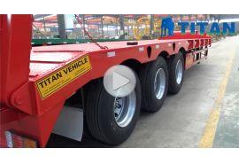Remolque de carga pesada de 60-80 toneladas