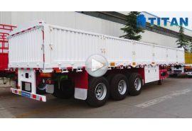 Multi jenis trailer kargo dinding samping