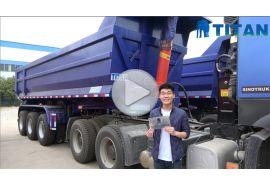 Bentuk U dump semi trailer