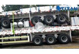 Paket pengiriman trailer pagar