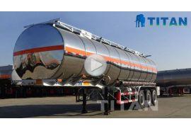Trailer tangki bahan bakar stainless steel
