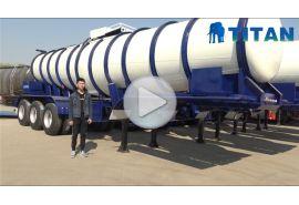Trailer tanker pengangkut asam