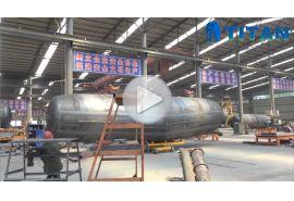 Demostración de la fábrica del remolque del tanque de cemento