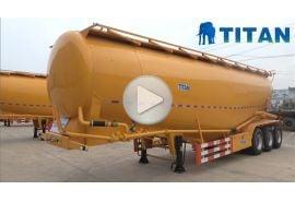 Remolque de cemento a granel de 60 toneladas