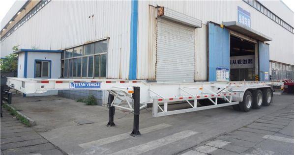 Remolque esquelético de contenedor de 3 ejes y 40 pies a la venta - ¿Qué es un remolque de chasis?
