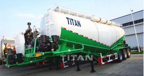 Transporte de remolque cisterna de cemento a granel seco-remolque cisterna de cemento para la venta en Filipinas