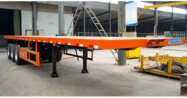 Remolque de plataforma plana de tres ejes en venta en Namibia