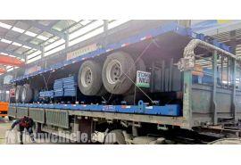 El remolque de aparador de 2 ejes se enviará a Nigeria Abuja