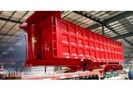 El remolque volquete volquete de 80 toneladas se enviará a Mozambique