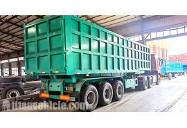 El remolque volquete 60T se enviará a Mauritania Nouakchott