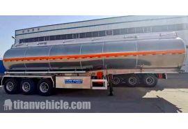 Trailer Tanker Bahan Bakar Stainless Steel Tri Axle 45000 Liter akan dikirim ke Mauritius