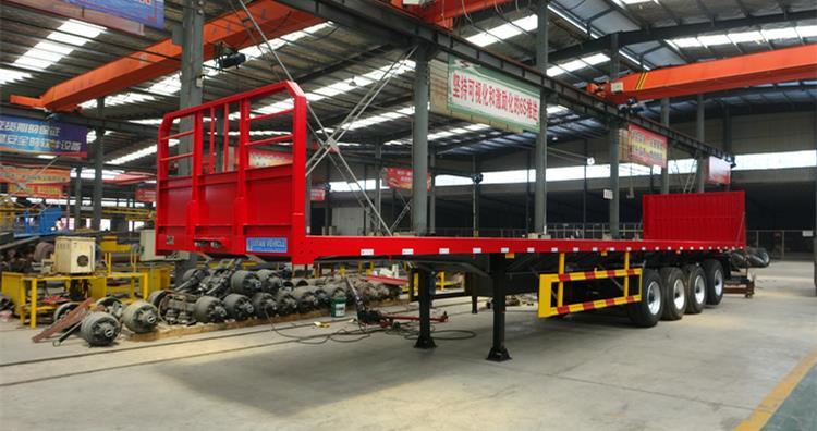 Semirremolque de plataforma plana de 4 ejes a la venta en Zimbabwe-Diferentes tipos de remolques de plataforma plana