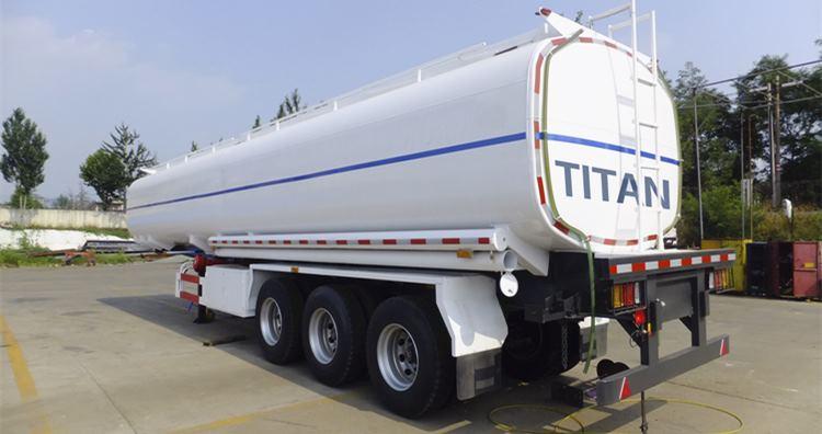 Sistema de reabastecimiento de combustible en la parte inferior del remolque cisterna de combustible-40cbm remolque cisterna de combustible a la venta en Nigeria