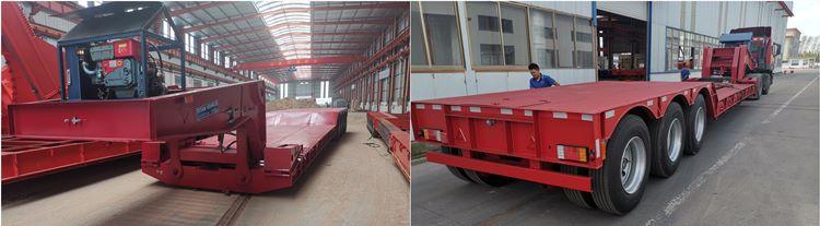 Remolque desmontable de 120 toneladas a la venta en Nigeria