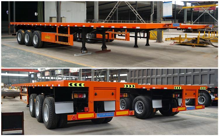 Remolque de plataforma plana de tres ejes a la venta en Namibia - Vehículo TITAN