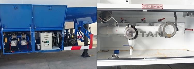Válvula submarina de remolque cisterna de combustible de tres ejes