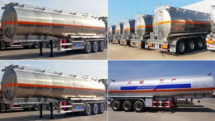 Semirremolque cisterna de combustible de aluminio de 45000 litros