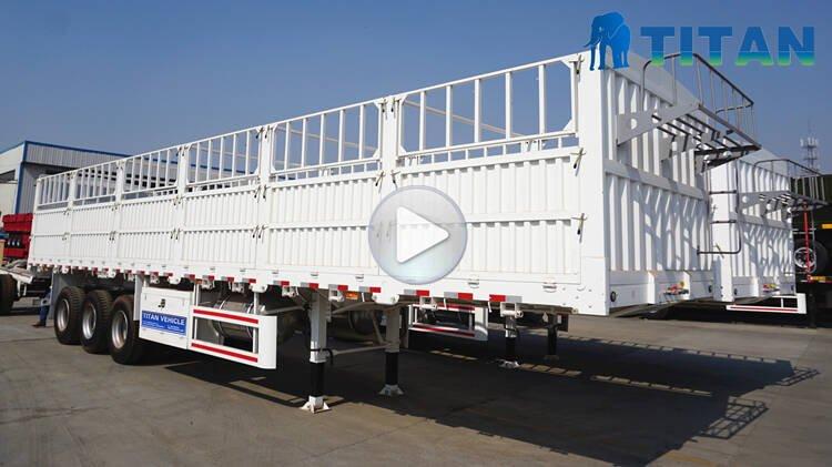 60ton Tri Axle Fence Trailer Dijual di Nigeria Lagos