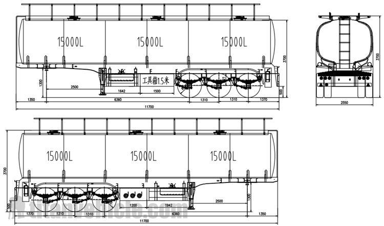 Gambar Trailer Tanker Bensin 3 Gandar 45000 Liter
