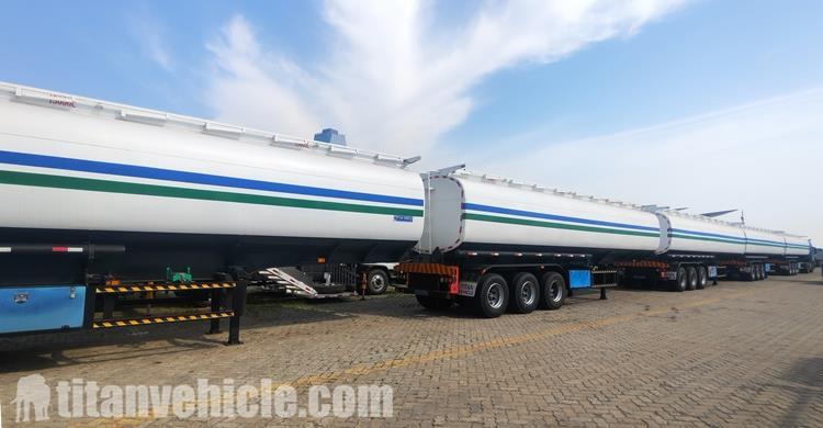 Tri Axle 45000 Liter Trailer Tanker Bensin untuk Harga Jual
