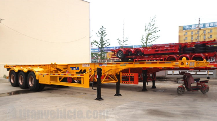 3 Axle 40ft Skeleton Trailer akan dikirim ke Sudan khartoum