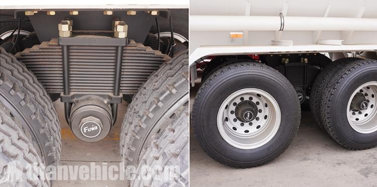 Bogie Suspensi Trailer Truk Tanker Minyak 2 Gandar