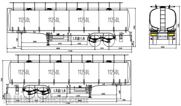 Gambar Harga Trailer Tanker Bahan Bakar 45000 Liter