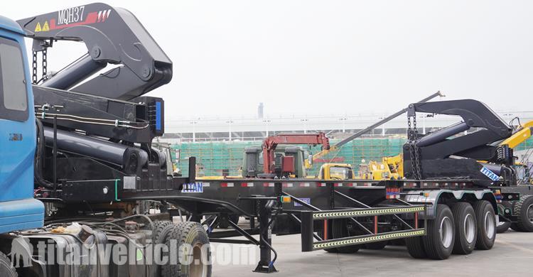 20/40Ft Container Side Loader Trailer Dijual Produsen