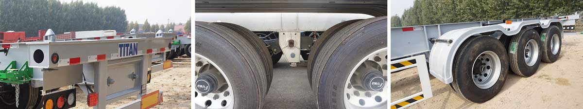 Trailer Chassis Kontainer Tri Axle 40ft $ 500 Diskon