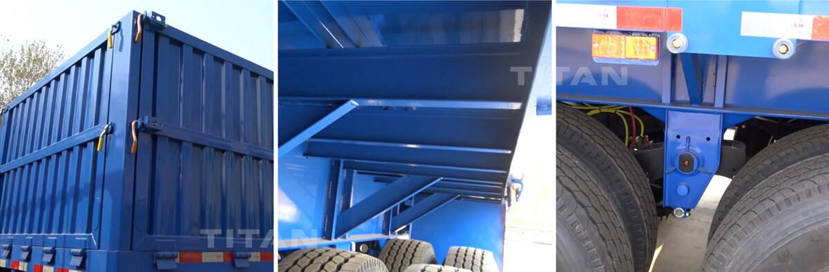 Semirremolque de pared lateral a la venta | Remolque de 3 ejes con techo abierto 10% de descuento en precios