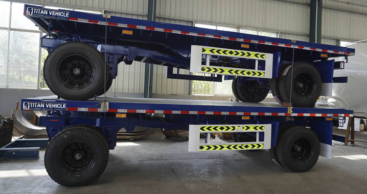 Drawbar trailer package before delivery