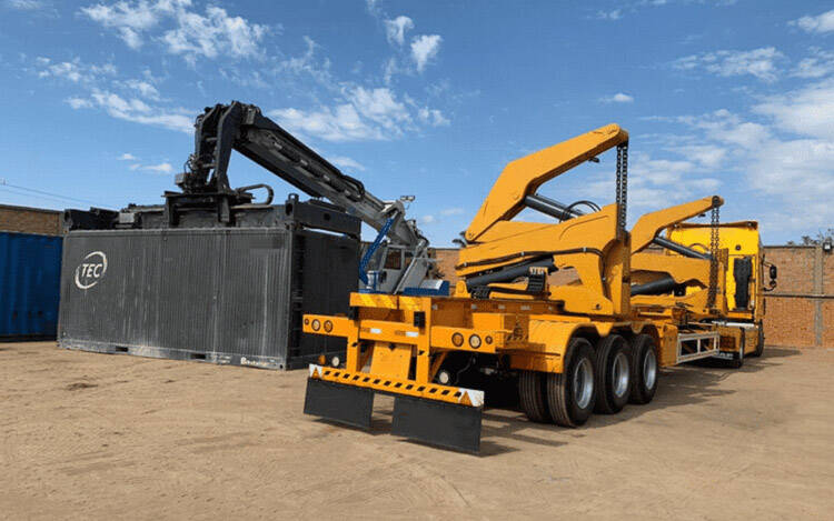 What is a Container Side Loader Trailer (sidelifter / sideloader) ?