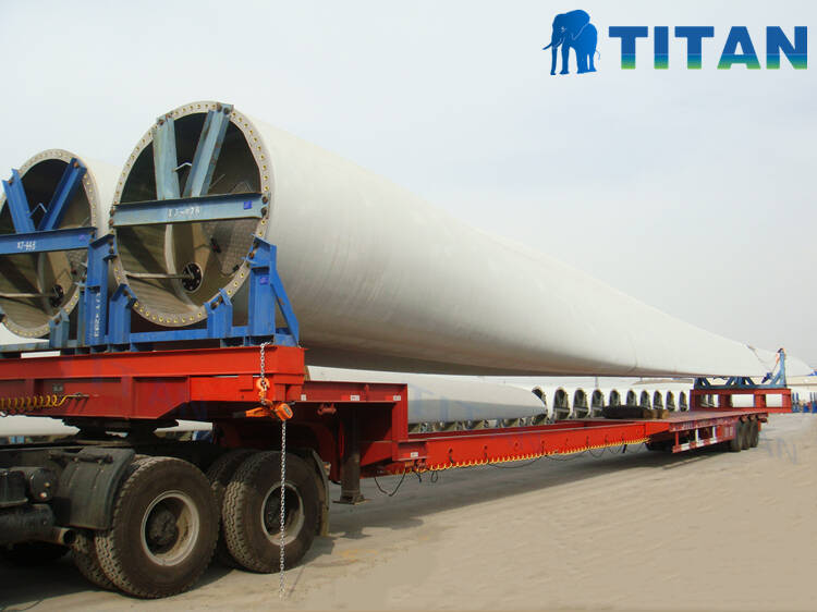 Remolque de transporte de palas de turbina eólica | Remolque extensible a la venta