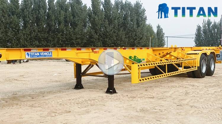 Used Intermodal Container Chassis Trailer For Sale near me-TITAN Vehicle