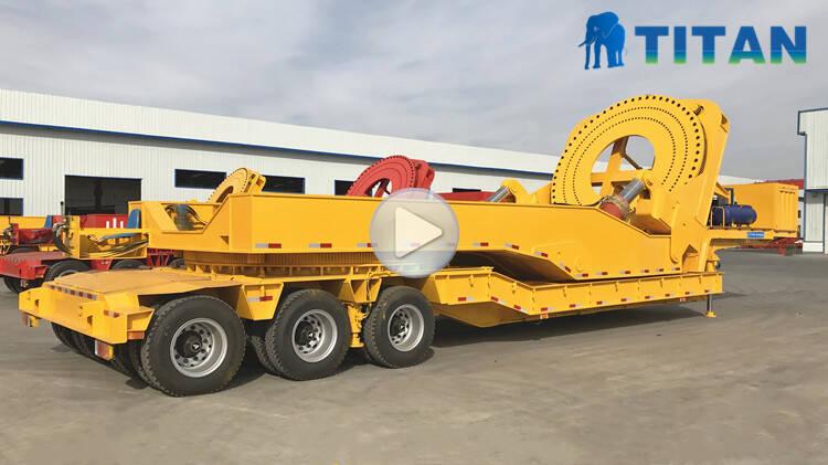 Remolque adaptador de transporte de palas de turbina eólica