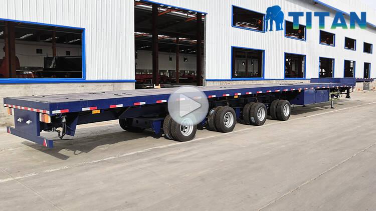 Remolque de transporte de cuchillas de 4 ejes y 60 m