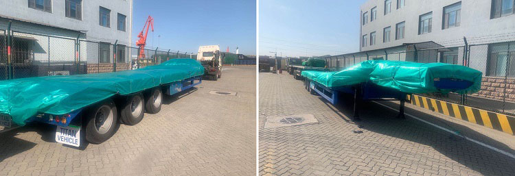 shipment of low bed trailer