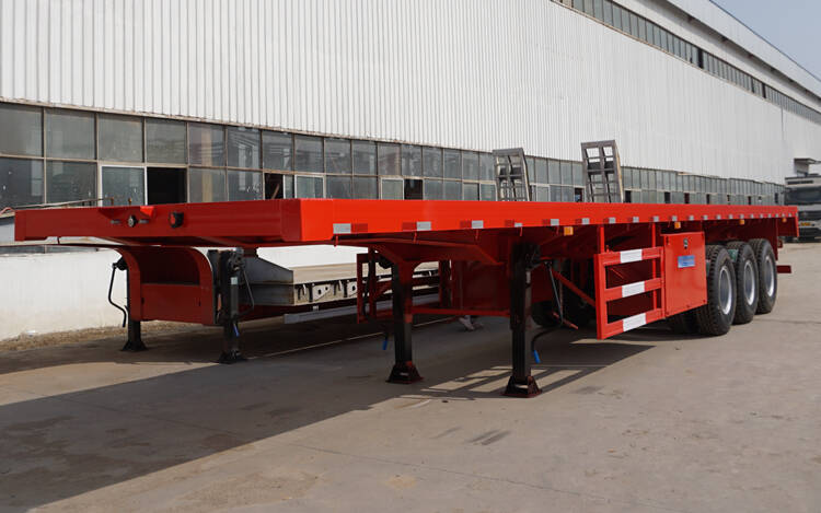 3 axle 40ft container logistics flatbed trailer