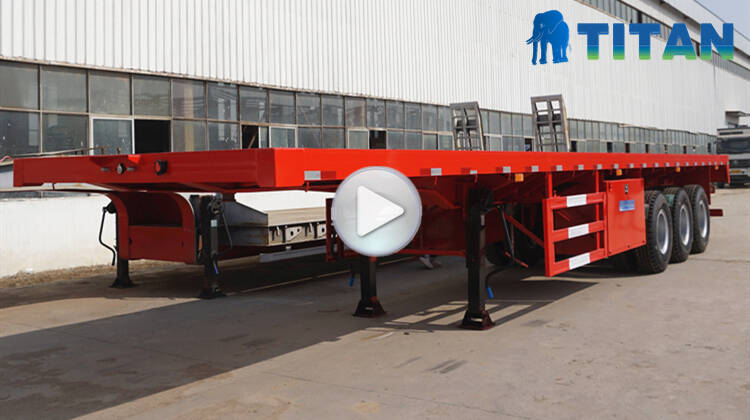 Trailer semi flatbed